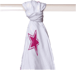 KIKKO Bambusová osuška/plienka Stars 90x100 (1ks) – magenta