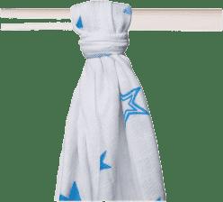 KIKKO Bambusová osuška/plena Stars 90x100 (1ks) – cyan