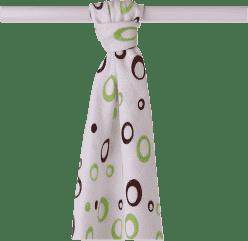 KIKKO Bambusowy ręcznik/pieluszka Spirals&Bubbles 90x100 (1 szt.) – lime bubbles