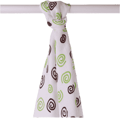 KIKKO Bambusová osuška/plena Spirals&Bubbles 90x100 (1ks) – lime spirals