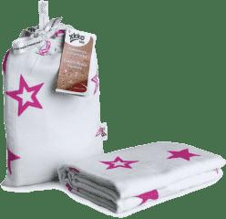 KIKKO Bambusowy otulacz Stars 120x120 (1 szt.) – magenta