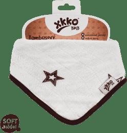 KIKKO Bambusowy śliniaczek/ściereczka Stars (1 szt.) – natural brown