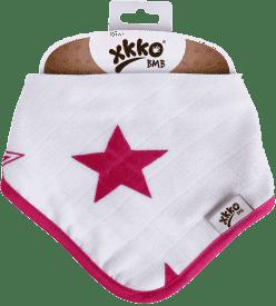 KIKKO Bambusový slintáček/šátek Stars (1ks) – magenta
