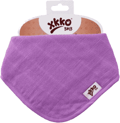 KIKKO Bambusový slintáček/šátek Colours (1ks) – lilac