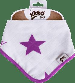 KIKKO Bambusowy śliniaczek/ściereczka Stars (1 szt.) – lilac