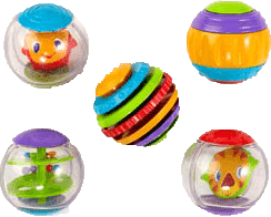 BRIGHT STARTS Hračka Shake & Spin Activity Balls™, 3m+