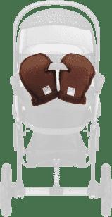 CAM Zimowe rękawice do wózka, brązowe
