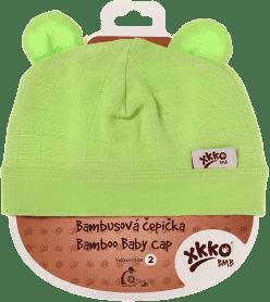 KIKKO Bambusová dětská čepička Colours, vel. 2 - lime