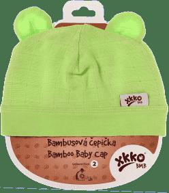 KIKKO Bambusová dětská čepička Colours, vel.3 - lime