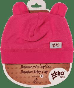 KIKKO Bambusová detská čiapočka Colours, vel.3 - magenta