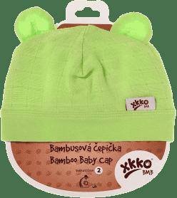 KIKKO Bambusová dětská čepička Colours, vel.4 - lime