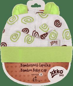 KIKKO Bambusowa dziecięca czapeczka Spirals rozm.4 - lime