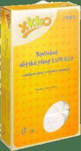 KIKKO Vysokogramážne bavlnené plienky Lux Eco 70x70 (10ks) – nebielené