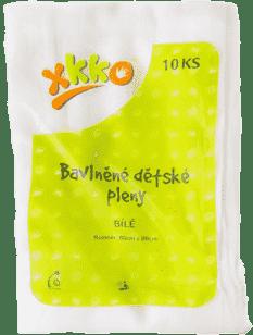 KIKKO Bawełniane pieluszki Classic 80x80 (10 szt.) – białe