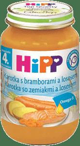 HIPP Mrkva so zemiakmi a lososom 190 g