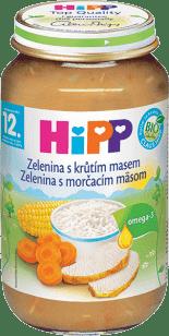 HIPP Jemná zelenina s morčacím mäsom 220g