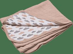LODGER Bavlněná deka Dreamer Quilt 100x150cm – Nude