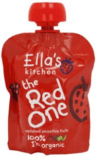5x ELLA´S Kitchen Owocowe puree - Truskawki (The Red One) 90g