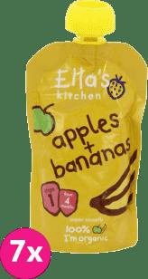 7x Ella's kitchen, Jabłko, banan 120g