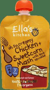 ELLA'S Kitchen Kurča so sladkou kukuričnou kašou 130g