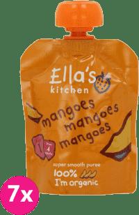 7x ELLA'S Kitchen, Ovocné pyré - 100% mango 70g