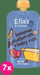 7x ELLA´S Kitchen Dětská rýže – Banán aborůvky 120g