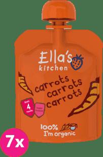 7x ELLA'S Kitchen, Pyré - Mrkev 70g