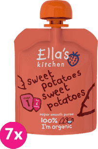 7x ELLA'S Kitchen, Zeleninové pyré - 100 % sladké zemiaky 70g
