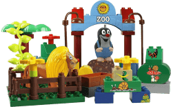 EPLINE Krecik zestaw studio (48 klocków + 1 figurka Krecik + 1 figurka zoo)