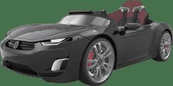 EPLINE Elektryczne Auto Henesy Broon F830, czarne