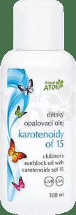 ATOK Original detský opaľovací olej s karotenoidy OF15 100 ml