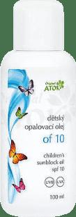 ATOK Original dětský opalovací olej OF10 100 ml