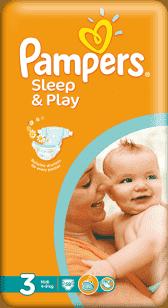 PAMPERS Sleep & Play 3 MIDI 58ks (4-9 kg) - jednorazové plienky