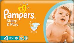 PAMPERS Sleep&Play 4 MAXI (7-14 kg) 50 szt. – pieluszki jednorazowe