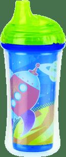 NUBY Termoizolační láhev s pítkem 270ml, 9m+, zelená