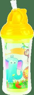NUBY Termoizolačné fľaša so slamkou 270ml, 12m +, žltá