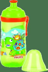 NUBY Butelka sportowa Pop-Up 360ml, 18m+,  kolor zielony