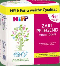 4x HIPP Babysanft 56 szt. - chusteczki nawilżane