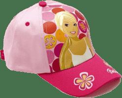 BARBIE Letní kšiltovka, růžová s puntíky (Premium klub)