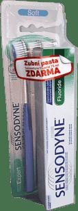 SENSODYNE Szczoteczki Expert Soft Trio pack + SENSODYNE Pasta Fluoride 75ml gratis
