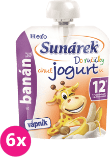 6x SUNÁREK Do ručičky s banány a jogurtem 80g