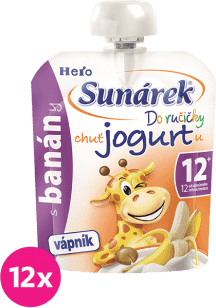 12x SUNÁREK Do ručičky s banánmi a jogurtom 80g