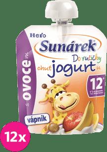 12xSUNÁREK Do ručičky s ovocím a jogurtom 80g