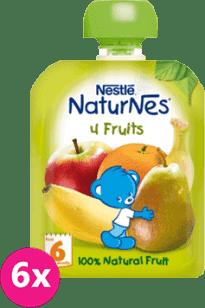 6x NESTLÉ NATURNES 4 ovocie (90g)