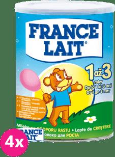 4x FRANCE LAIT 1 až 3 roky na podporu rastu (400g) - dojčenské mlieko