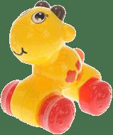 MIKRO TRADING Zvířátko zmáčkni a jeď - žlutá