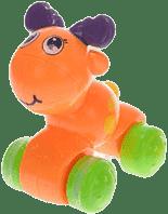 MIKRO TRADING Zvířátko zmáčkni a jeď - oranžová