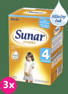 3x SUNAR Complex 4 (600g) - dojčenské mlieko