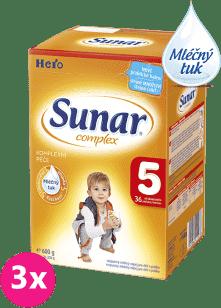 3x SUNAR Complex 5 (600g) – kojenecké mléko