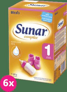 6x SUNAR Complex 1 (600g) - dojčenské mlieko